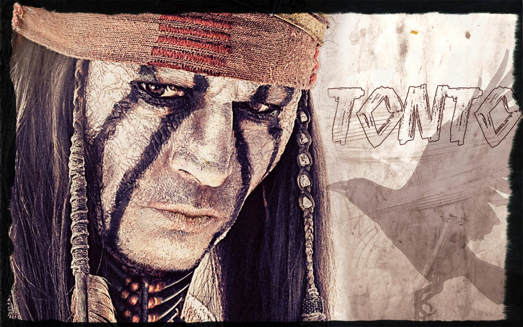 Tonto from the film, with white facepaint